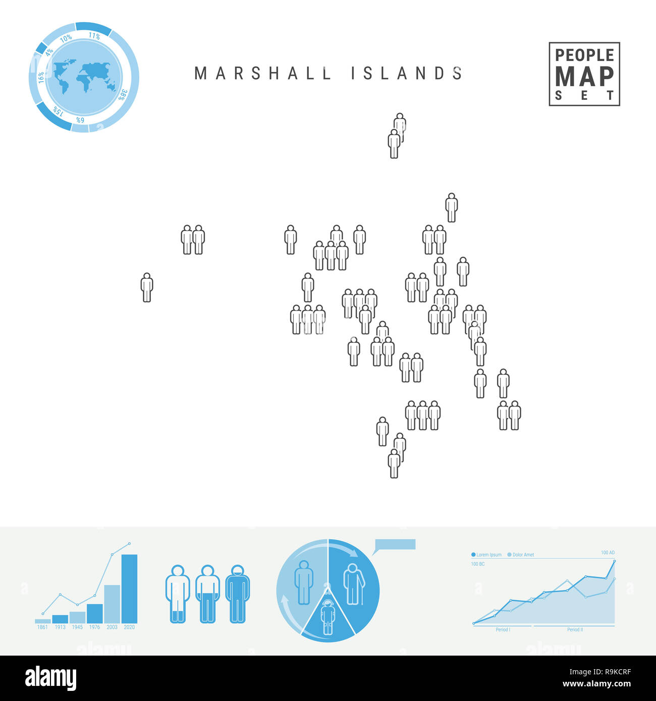 Marshall Islands People Icon Map. People Crowd in the Shape ...