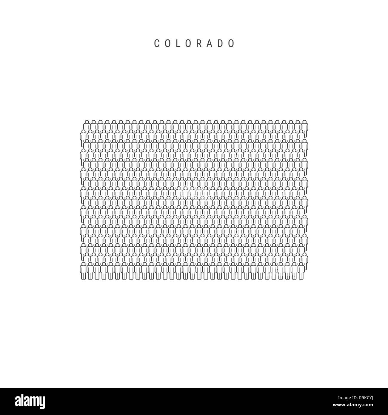 Map Of Colorado State Cut Out Stock Images Pictures Alamy