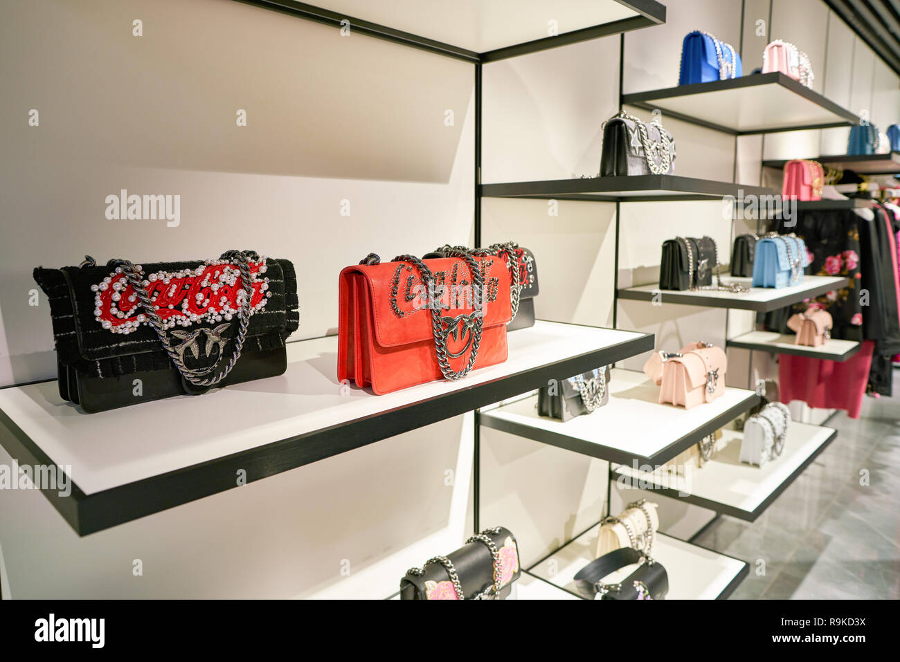 on sale 7f853 5fad1 ROME, ITALY - CIRCA NOVEMBER, 2017: bags on display at a ...