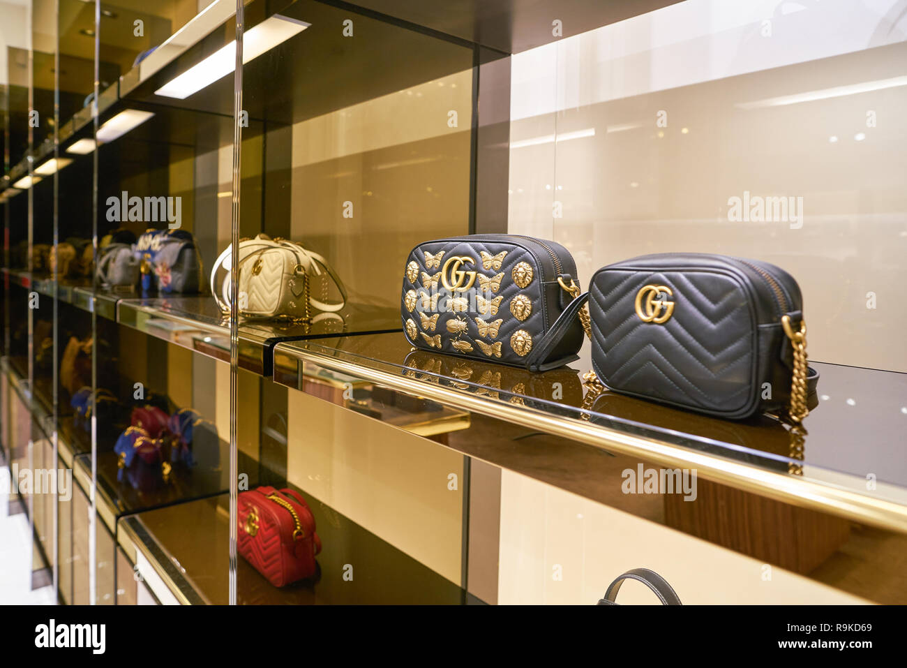 ROME, ITALY , CIRCA NOVEMBER, 2017 bags on display at a