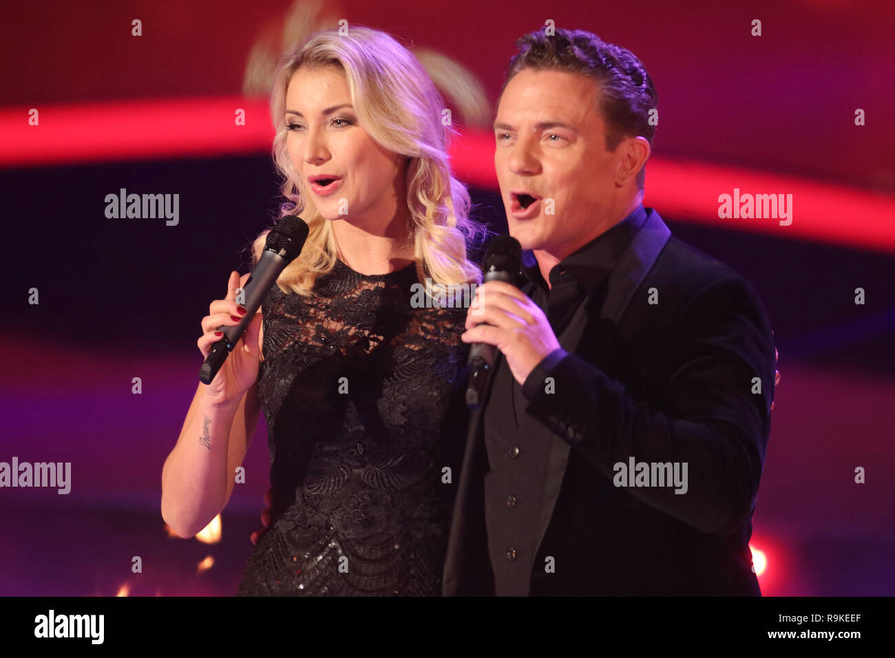 Guests at german tv show 'Schlager des Jahres 2018' in Suhl  Featuring: Anna Carina Woitschak & Stefan Mross Where: Suhl, Germany When: 23 Nov 2018 Credit: Becher/WENN.com - Stock Image