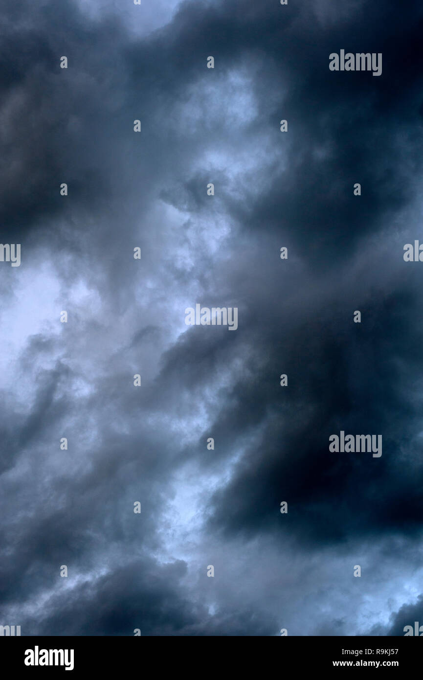 Stratocumulus opacus clouds threatening weather Stock Photo