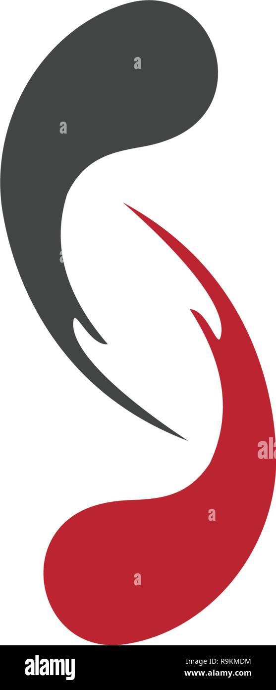 vortex vector illustration icon Logo Template design - Stock Image