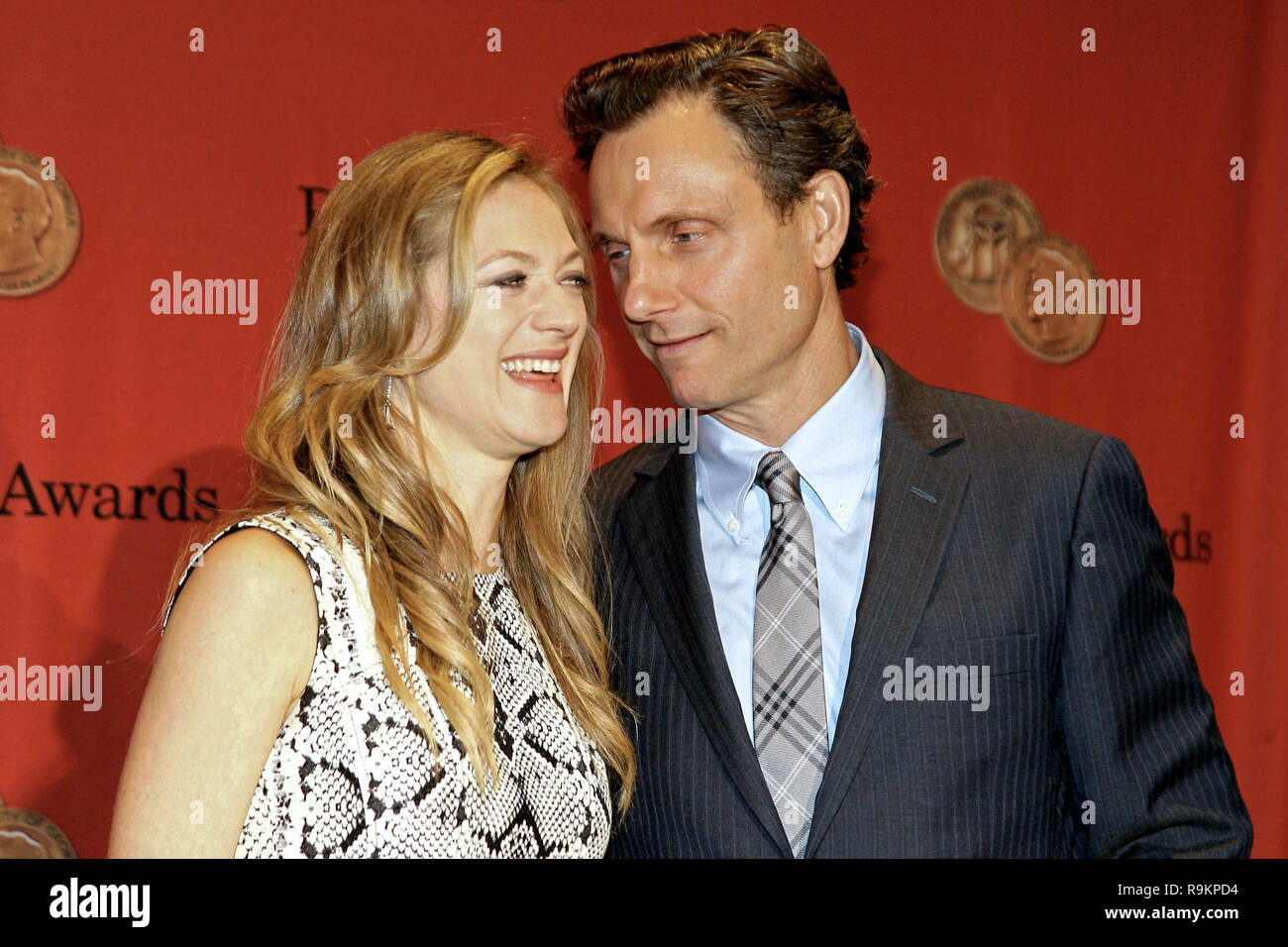 New York, NY / USA - May 19, 2014: Marin Ireland, Tony Goldwyn at The 73rd Annual George Foster Peabody Awards at The Waldorf=Astoria. - Stock Image