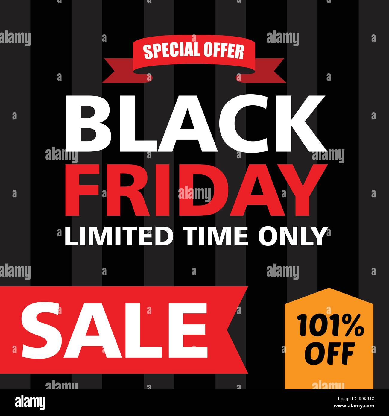 Black Friday Banner Ad For Your Business Event Good For Print Stock Vector Image Art Alamy