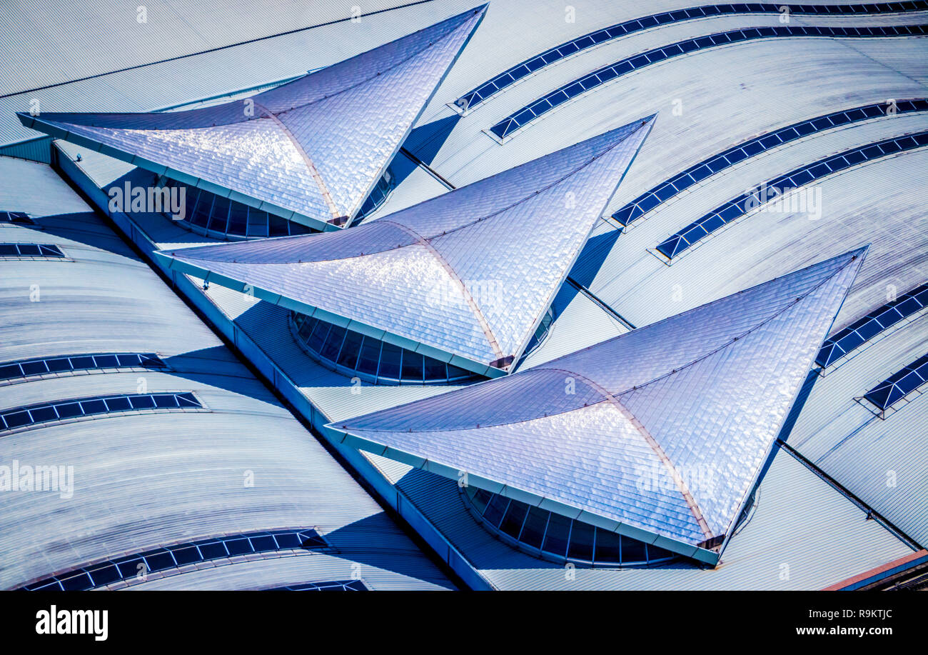 abstract detail of roof of KL central railway station Kuala Lumpur Malaysia - Stock Image