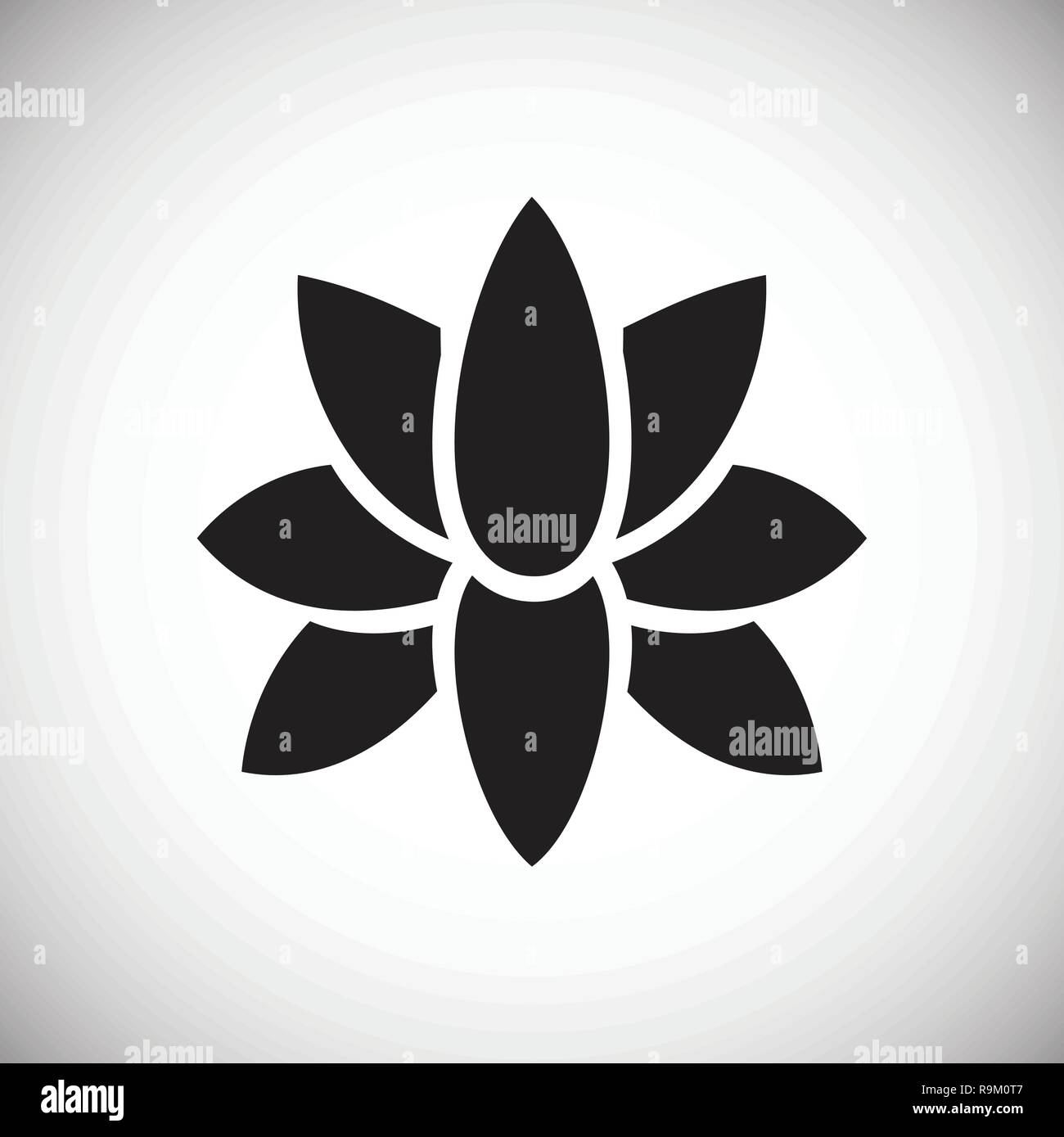 Flower Icon On White Background For Graphic And Web Design Modern