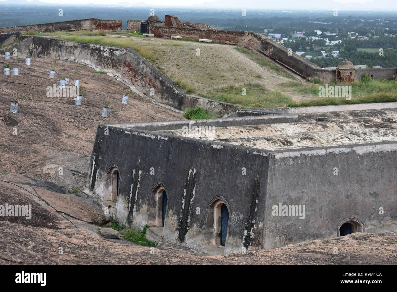 Dindigul Rock Fort Stock Photos & Dindigul Rock Fort Stock Images