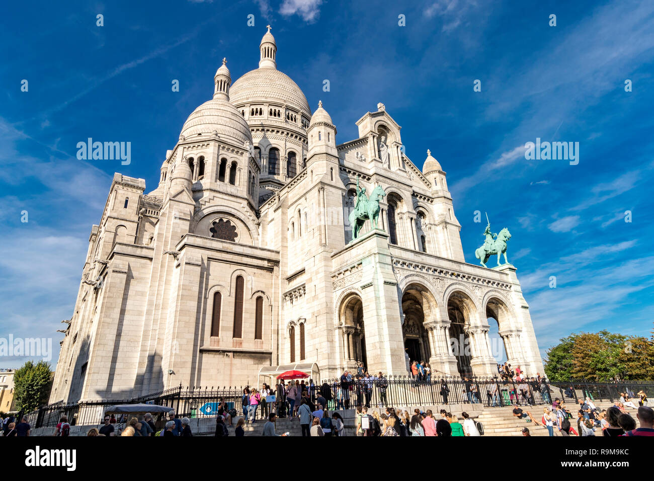Basilica of the Sacred Heart of Paris more commonly known as The Sacre Coeur Stock Photo