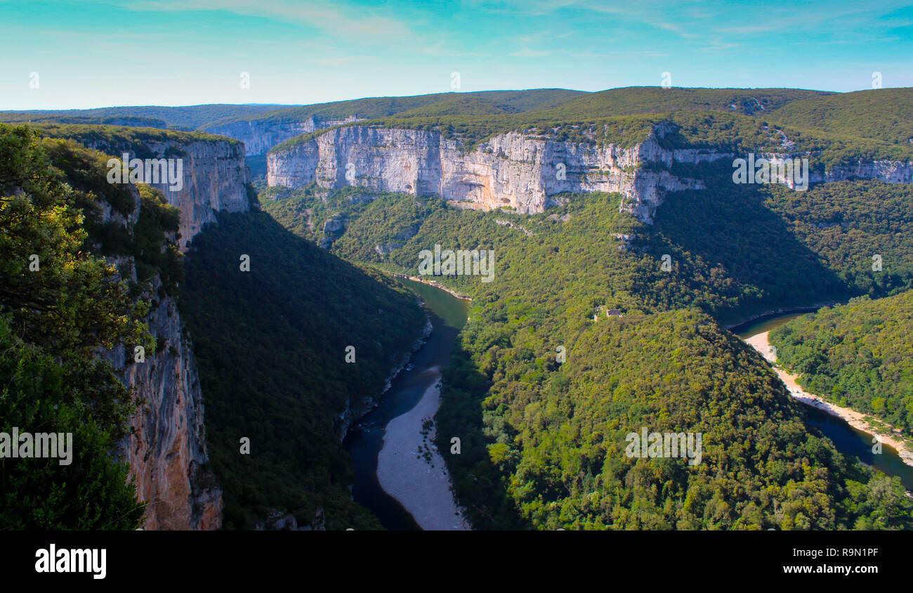 Impressing gogres de l'Ardeche in France - Stock Image