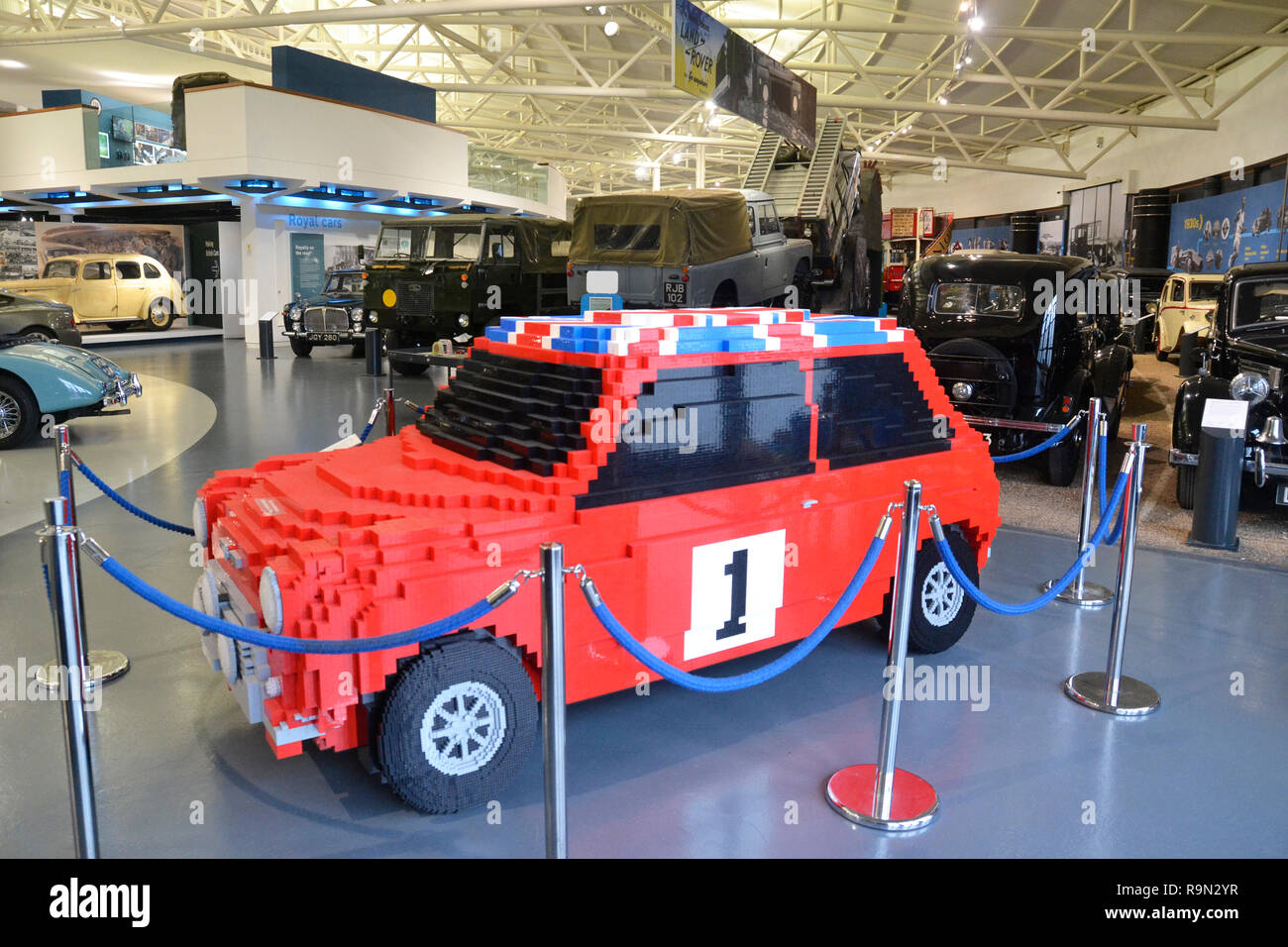 2017 Mini Cooper Lego Style Car Made By Visitors To The Museum