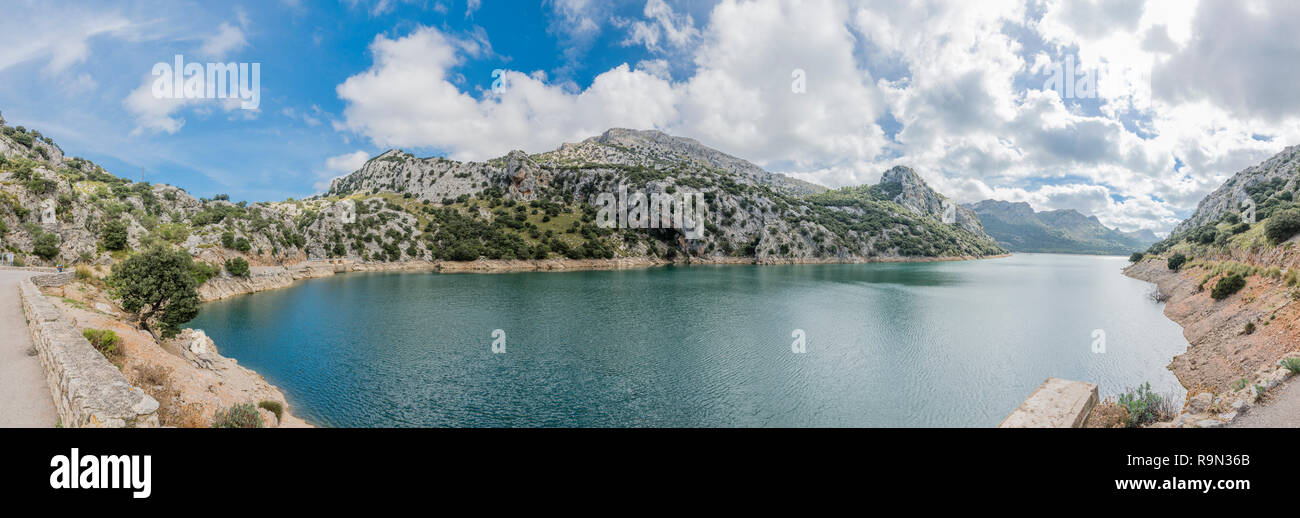 Mallorca Aussichtspunkt Torrent de Gorg Blau, Majorca Viewpoint Torrent de Gorg Blau - Panorama - Stock Image