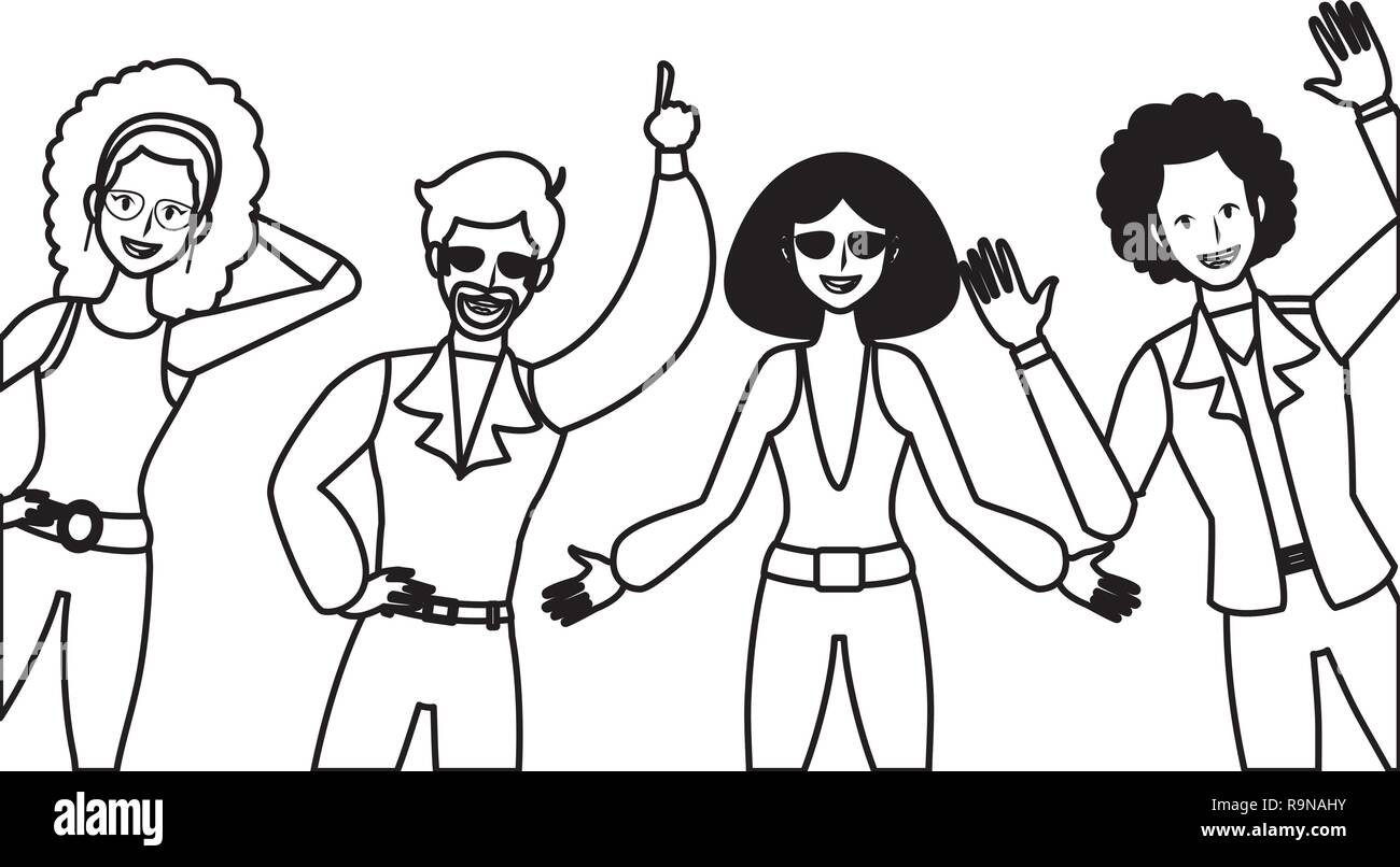 70s disco dancing stock photos 70s disco dancing stock images Disco Party Ticket disco people cartoon stock image