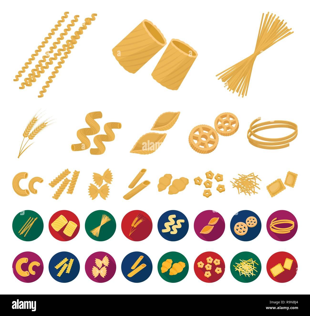 art,bucati,carbohydrate,cartoon,flat,cavatappi,cereal,chifferi,collection,conchiglie,design,ditalini,dough,ears,farfalle,figured,filini,food,fusilli,gnocchi,icon,illustration,isolated,logo,macaroni,pasta,penne,product,ravioli,rigate,rotelle,set,shape,sign,spaghetti,stelline,symbol,tagliatelle,types,vector,web,wheat Vector Vectors , Stock Vector