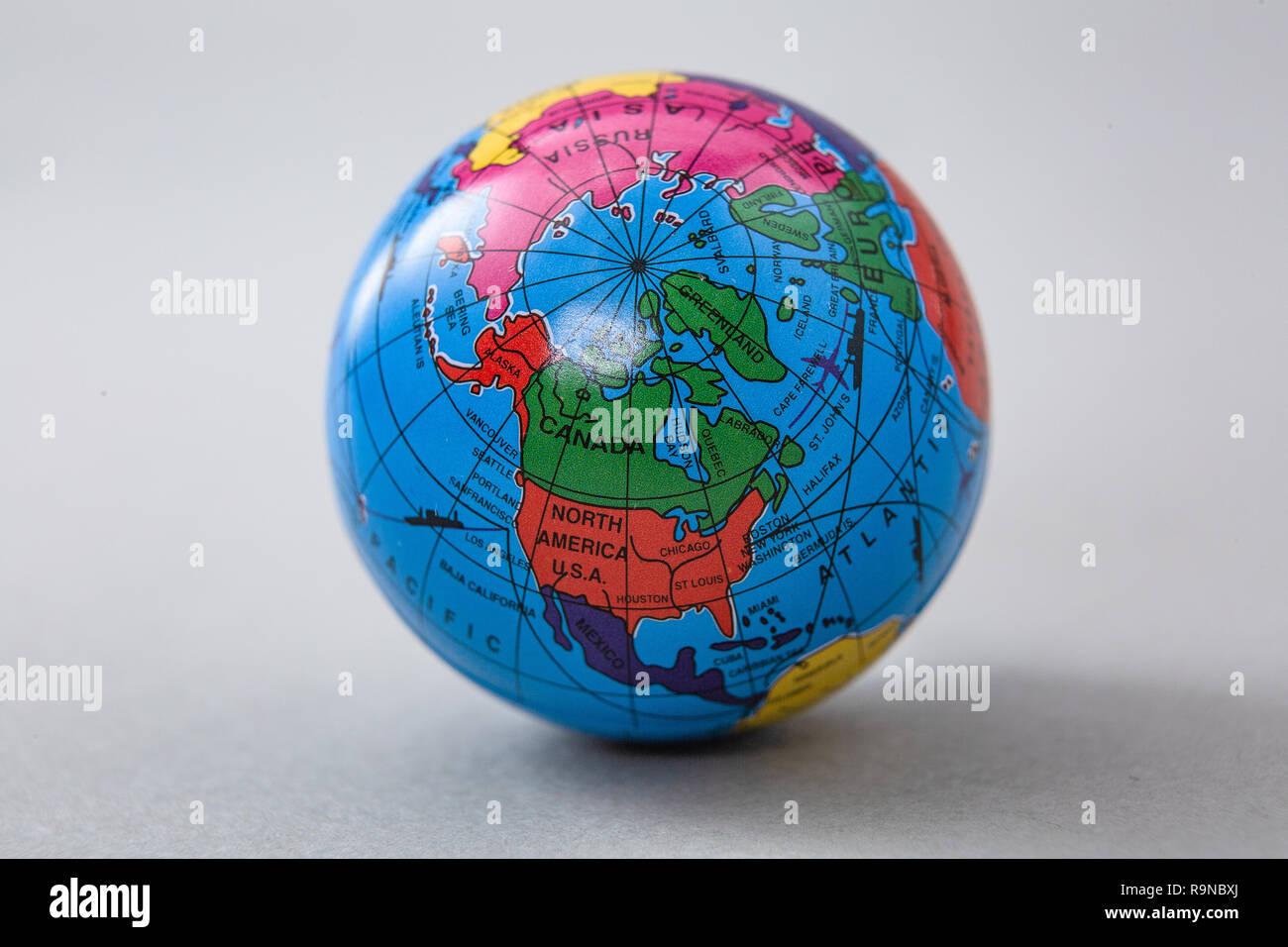 Close-up of global miniatures Stock Photo: 229737050 - Alamy