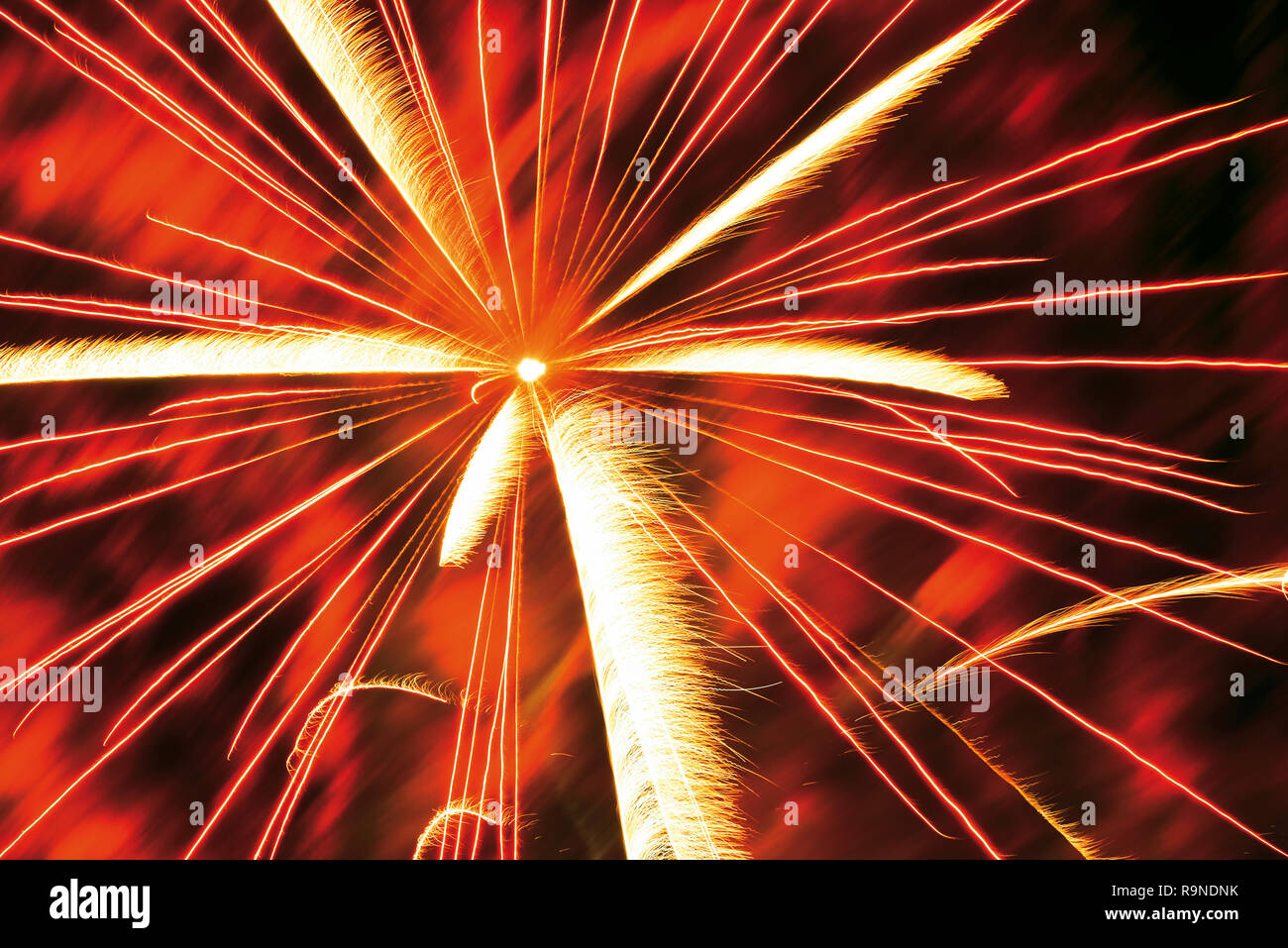 Happy New Year fireworks - Stock Image