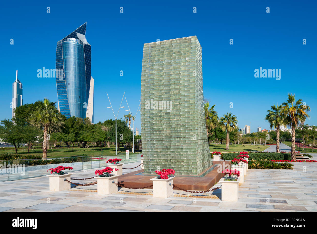 Martyrs Monument in  Al Shaheed Park in Kuwait, Middle East - Stock Image