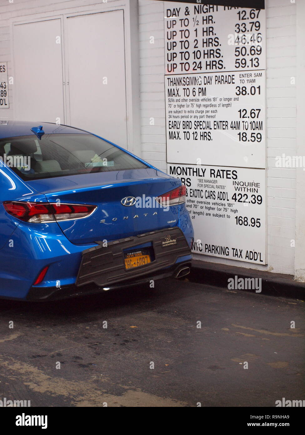 New York City parking garage rates with extremely high prices Stock ... e44f12608c294