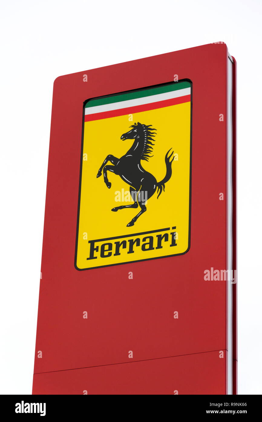 Prague Czech Republic December 23 2018 Ferrari N V Italian