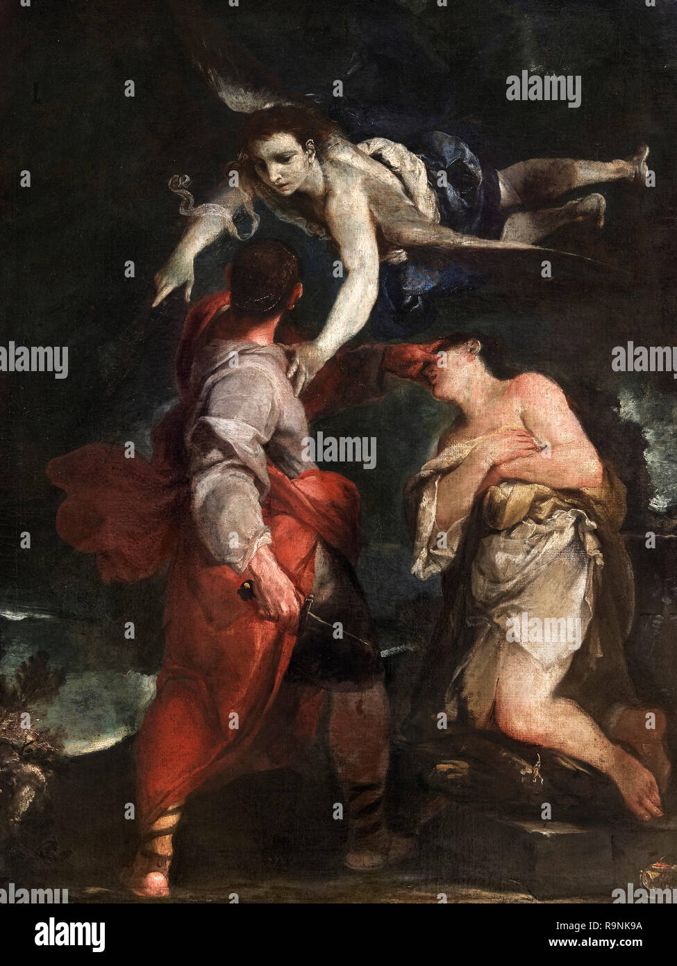 The Sacrifice of Abraham by Giuseppe Maria Crespi (1665-1747), oil on canvas, 1690s - Stock Image