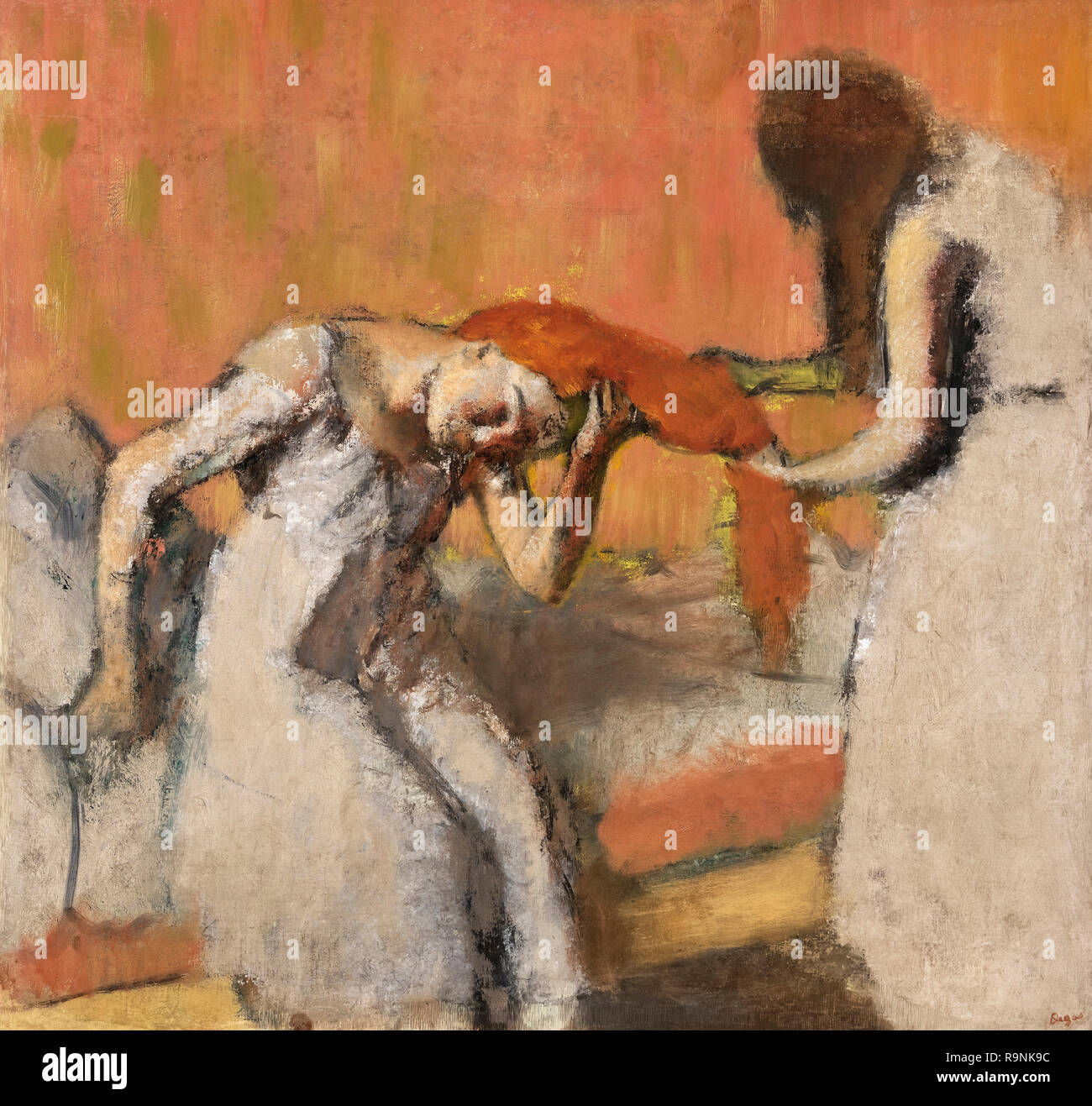 La Coiffure by Edgar Degas (1834-1917), oil on canvas, c.1893 - Stock Image
