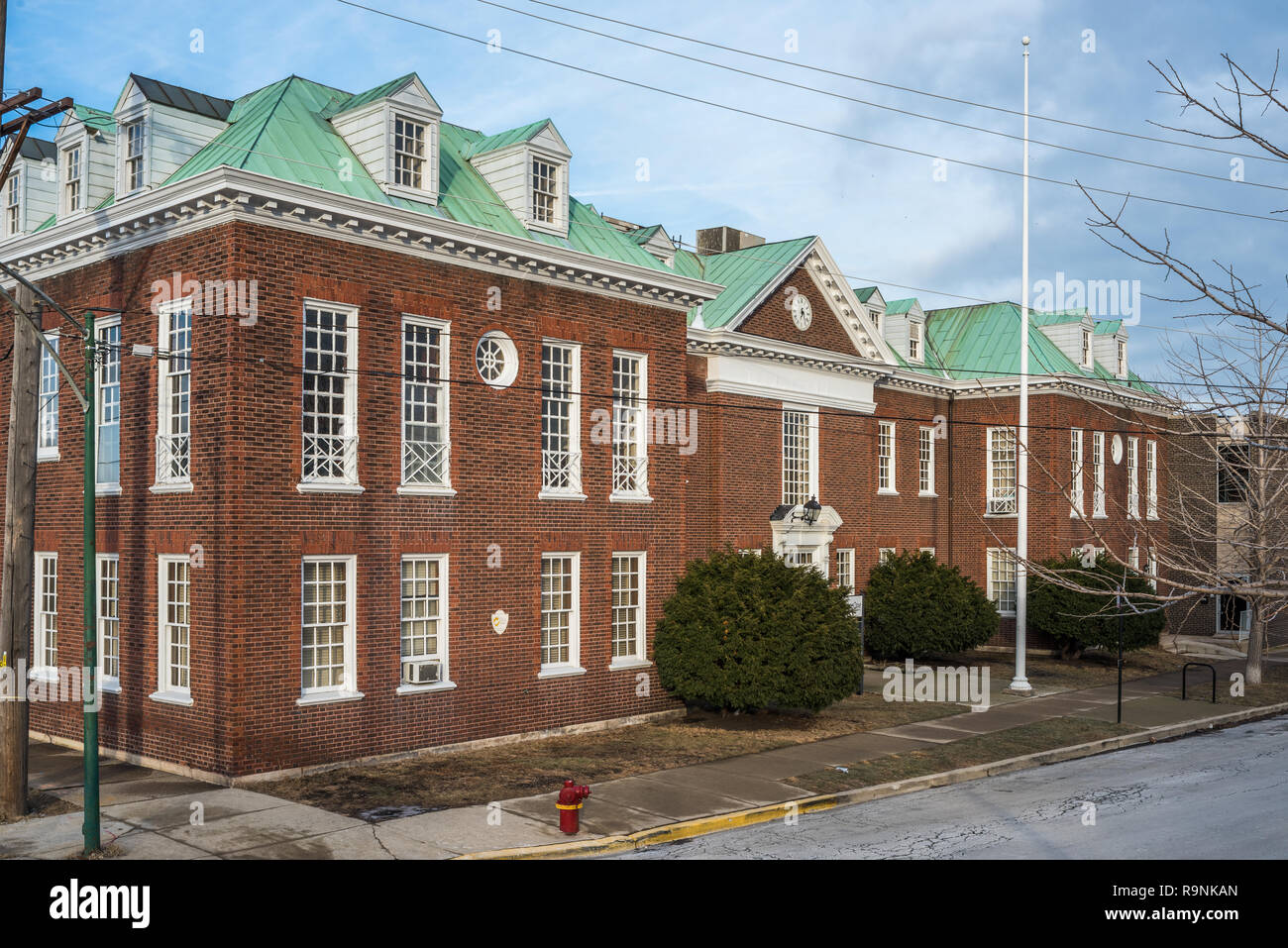 Industrial building in the West Town neighborhood - Stock Image