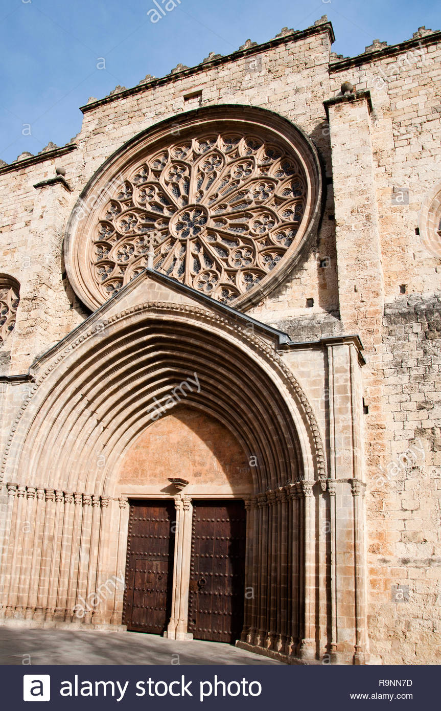 Monasterio de Sant Cugat del Vallés, Barcelona, España - Stock Image