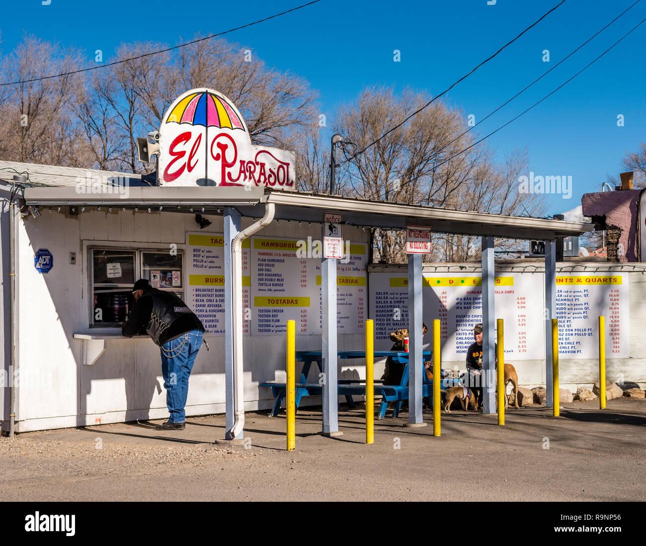 Espanola New Mexico Usa El Parasol Restaurant Stock Photo Alamy