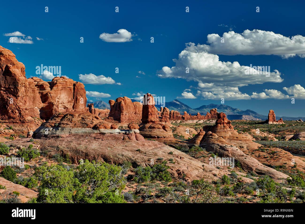 Garden of Eden, Arches National Park, Moab, Utah, USA, North America Stock Photo