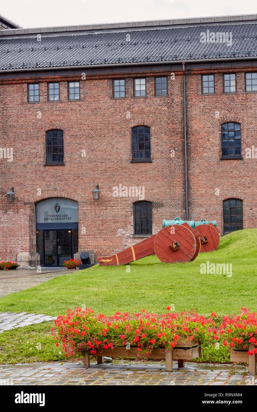 Forsvars museet, Forsvarsmuseet, Norwegian Armed Forces Museum, Dfds, Seaways, Oslo, Norway - Stock Image