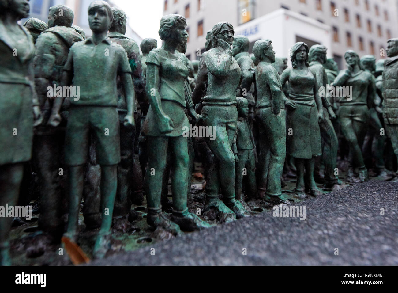 Grass Roots Square By Do Ho Suh Teatergata Oslo Norway - Stock Image