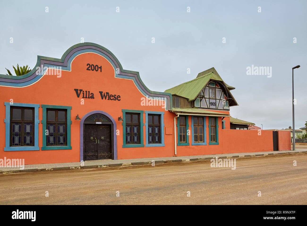 Villa Wiese in Swakopmund, Namibia, Africa - Stock Image