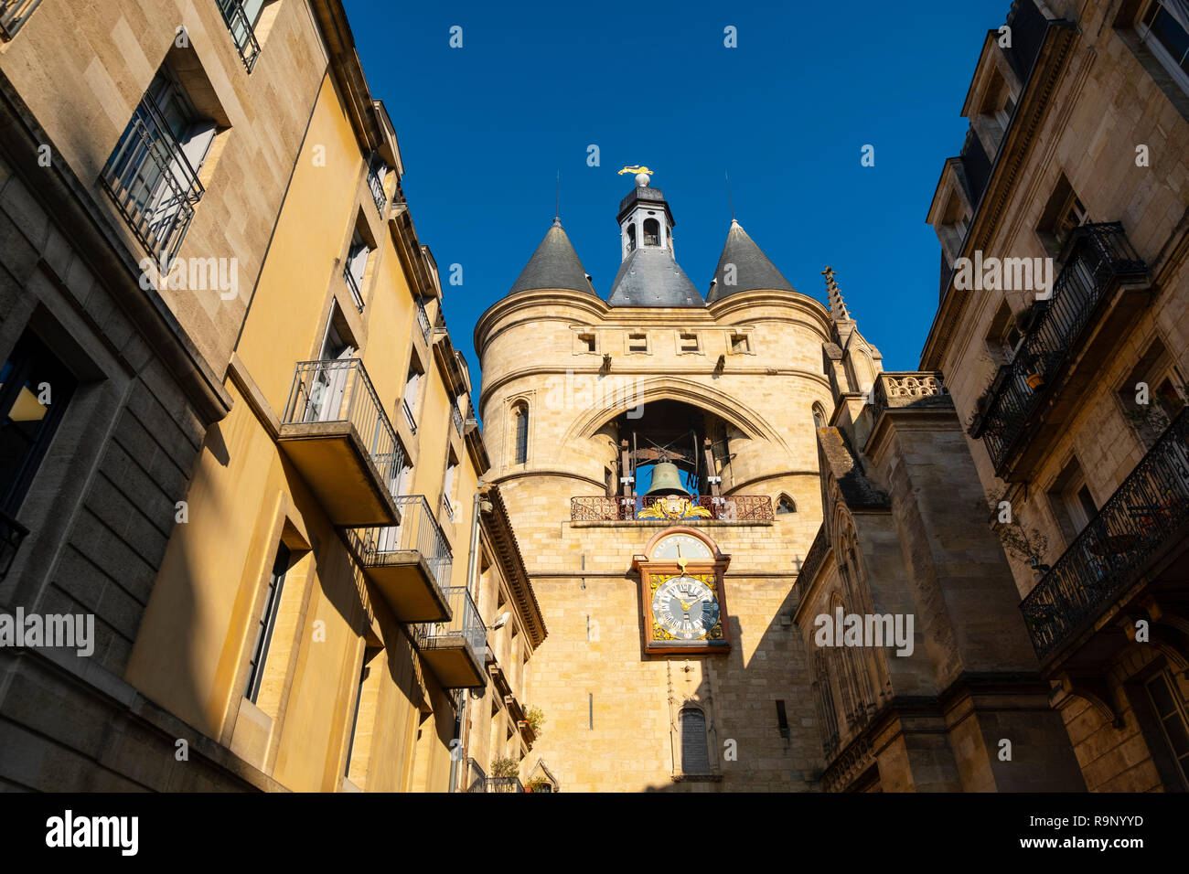 Clock tower, the Grosse cloche, Bordeaux, Gironde. Aquitaine region. France Europe. - Stock Image