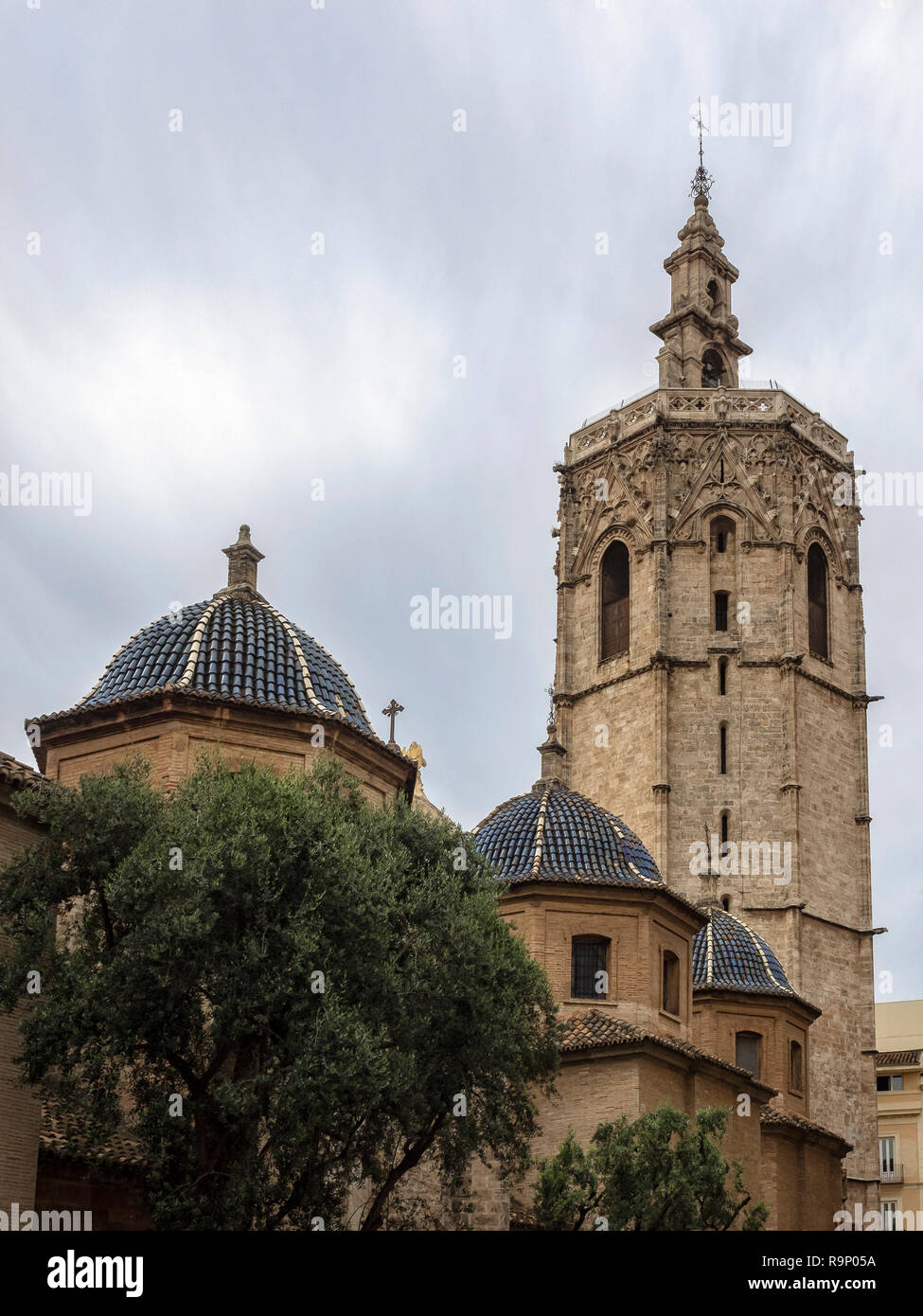 VALENCIA, SPAIN:  Cathedral Bell Tower (Torre del Micalet) Stock Photo