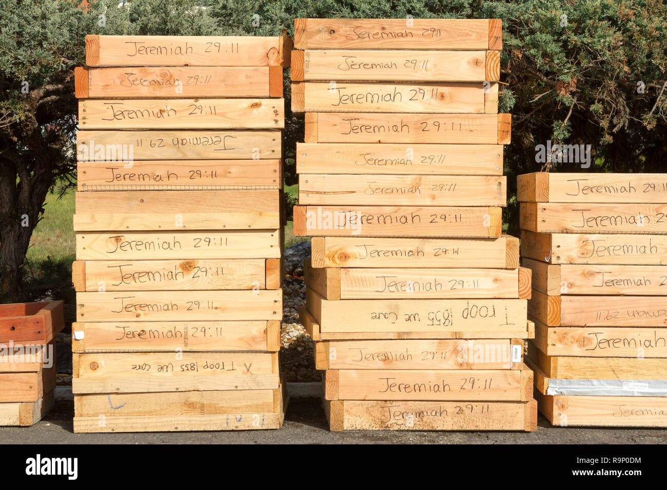 Donated Sifters - These images were captured in neighborhoods near Santa Rosa, California, where wildfires in early October 2017. - Stock Image