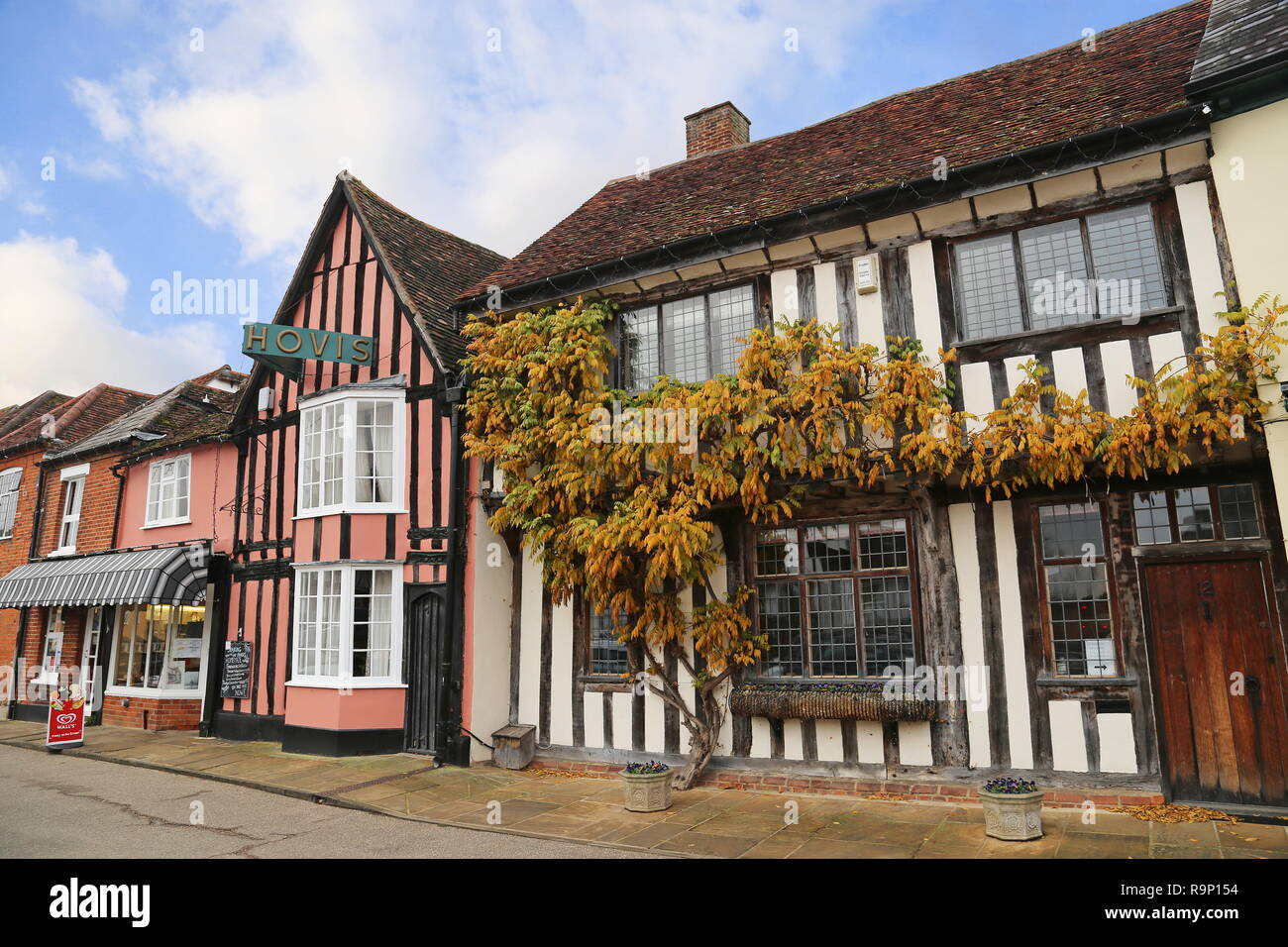 Sparling & Faiers Bakery, Market Place, Lavenham, Babergh district, Suffolk, East Anglia, England, Great Britain, United Kingdom, UK, Europe - Stock Image