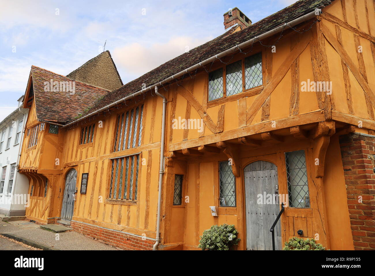 Little Hall Museum, Market Place, Lavenham, Babergh district, Suffolk, East Anglia, England, Great Britain, United Kingdom, UK, Europe - Stock Image