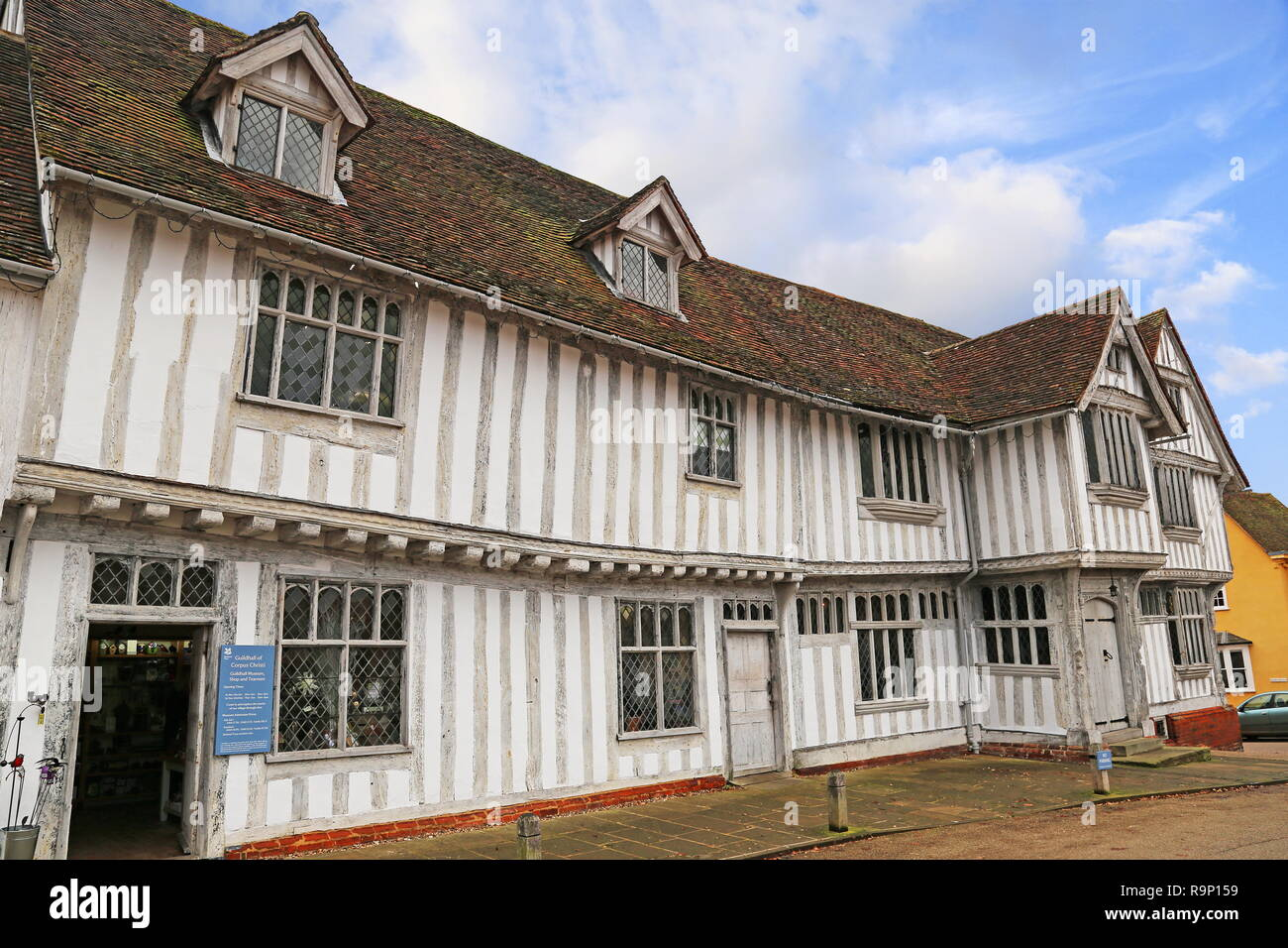 Guildhall of Corpus Christi, Market Place, Lavenham, Babergh district, Suffolk, East Anglia, England, Great Britain, United Kingdom, UK, Europe - Stock Image