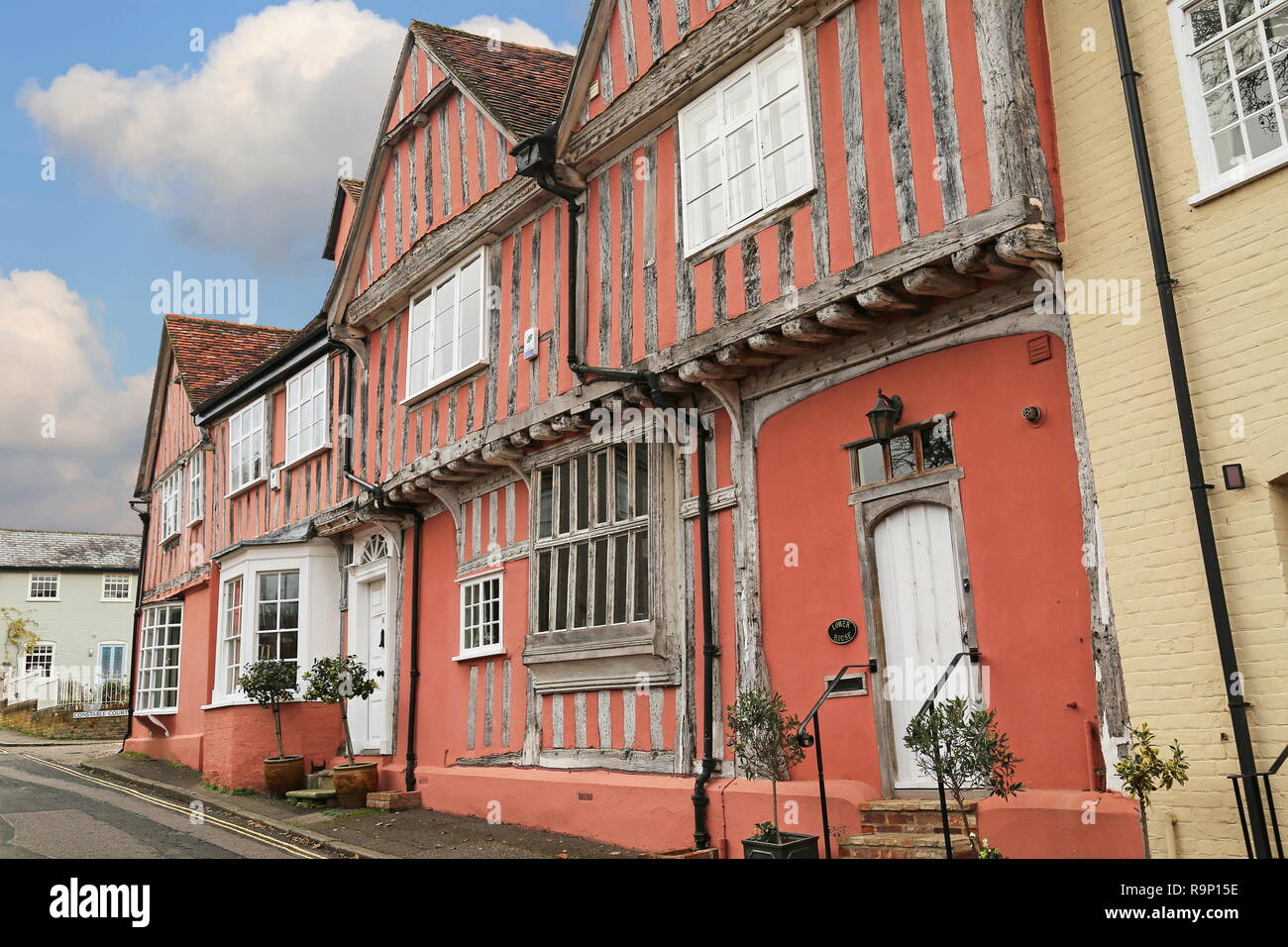 Old Grammar School, Barn Street, Lavenham, Babergh district, Suffolk, East Anglia, England, Great Britain, United Kingdom, UK, Europe - Stock Image