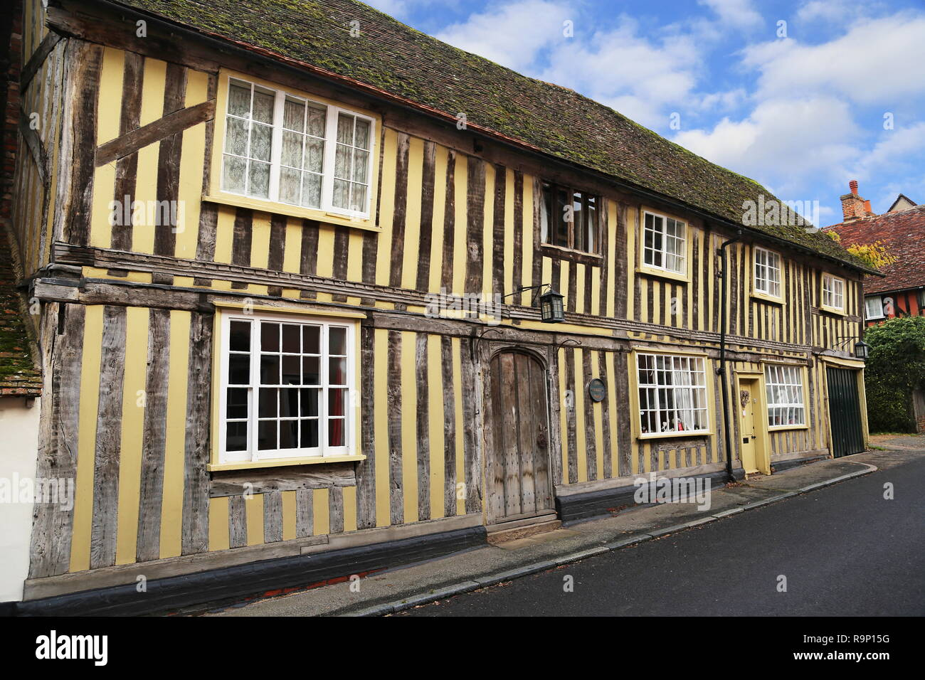 White Horse pub (now private house), Water Street, Lavenham, Babergh district, Suffolk, East Anglia, England, Great Britain, United Kingdom UK, Europe - Stock Image