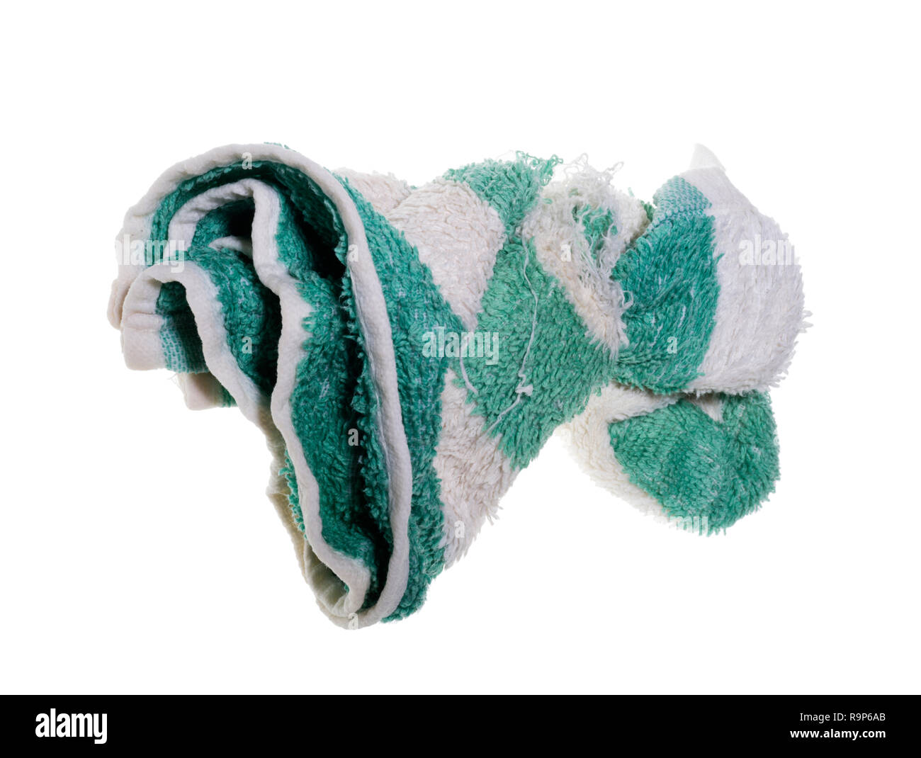 A face flannel, used to clean ones face in the morning or evening. Shaving cloth used before shaving ones face. - Stock Image