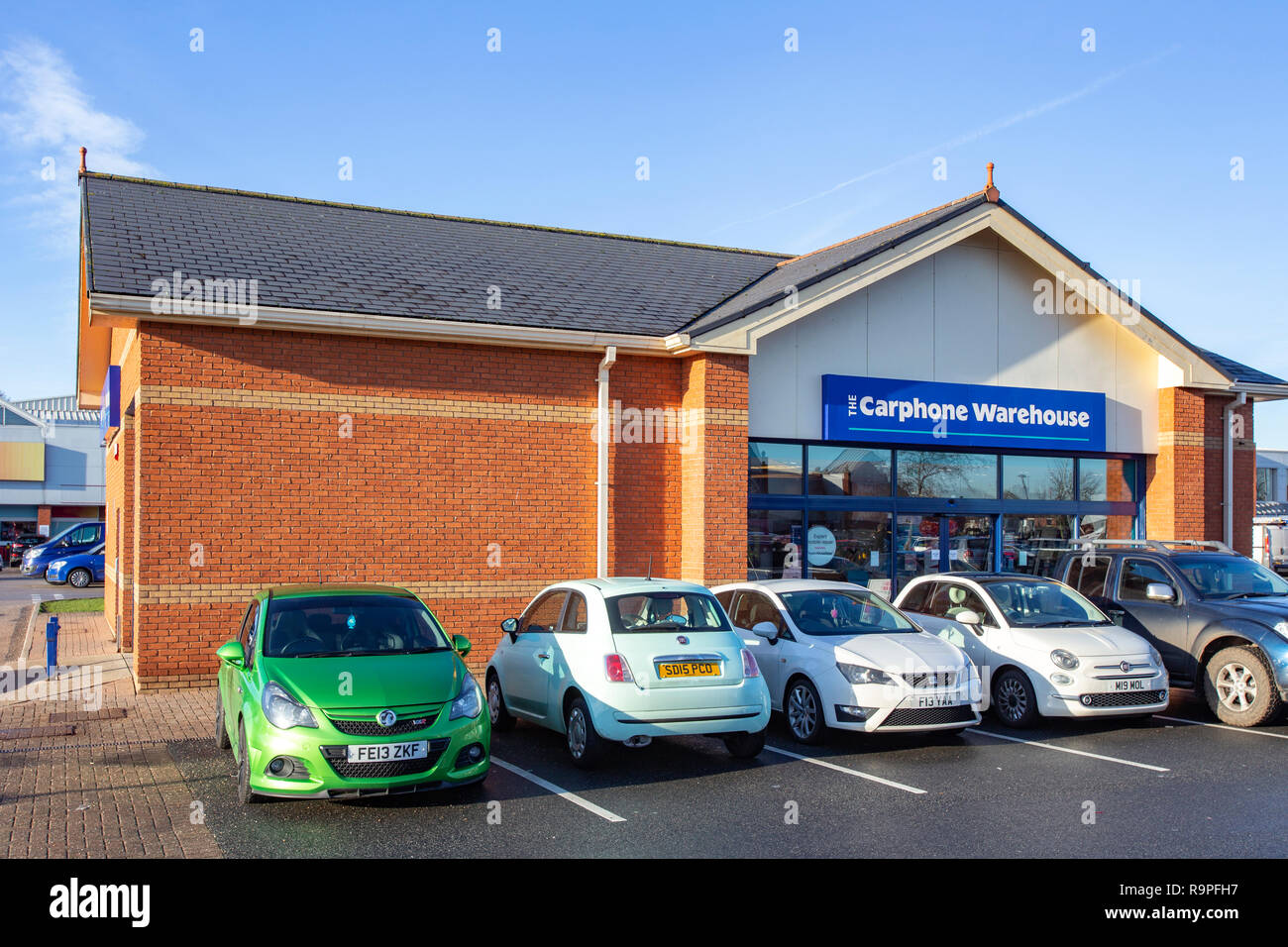 The Carphone Warehouse at Grand Junction Retail Park in Crewe Cheshire UK - Stock Image