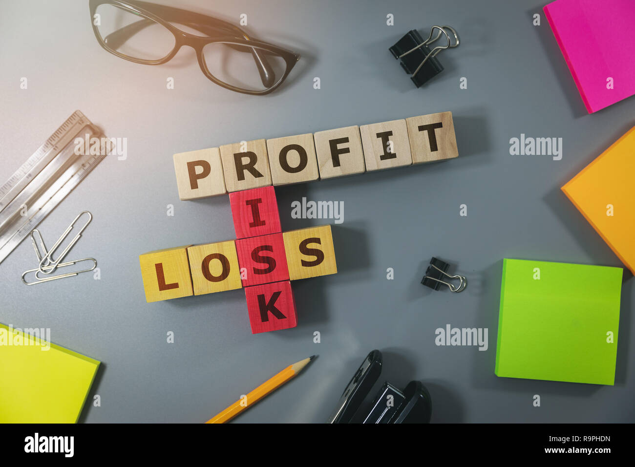 concept of financial risk in business and investment Stock Photo