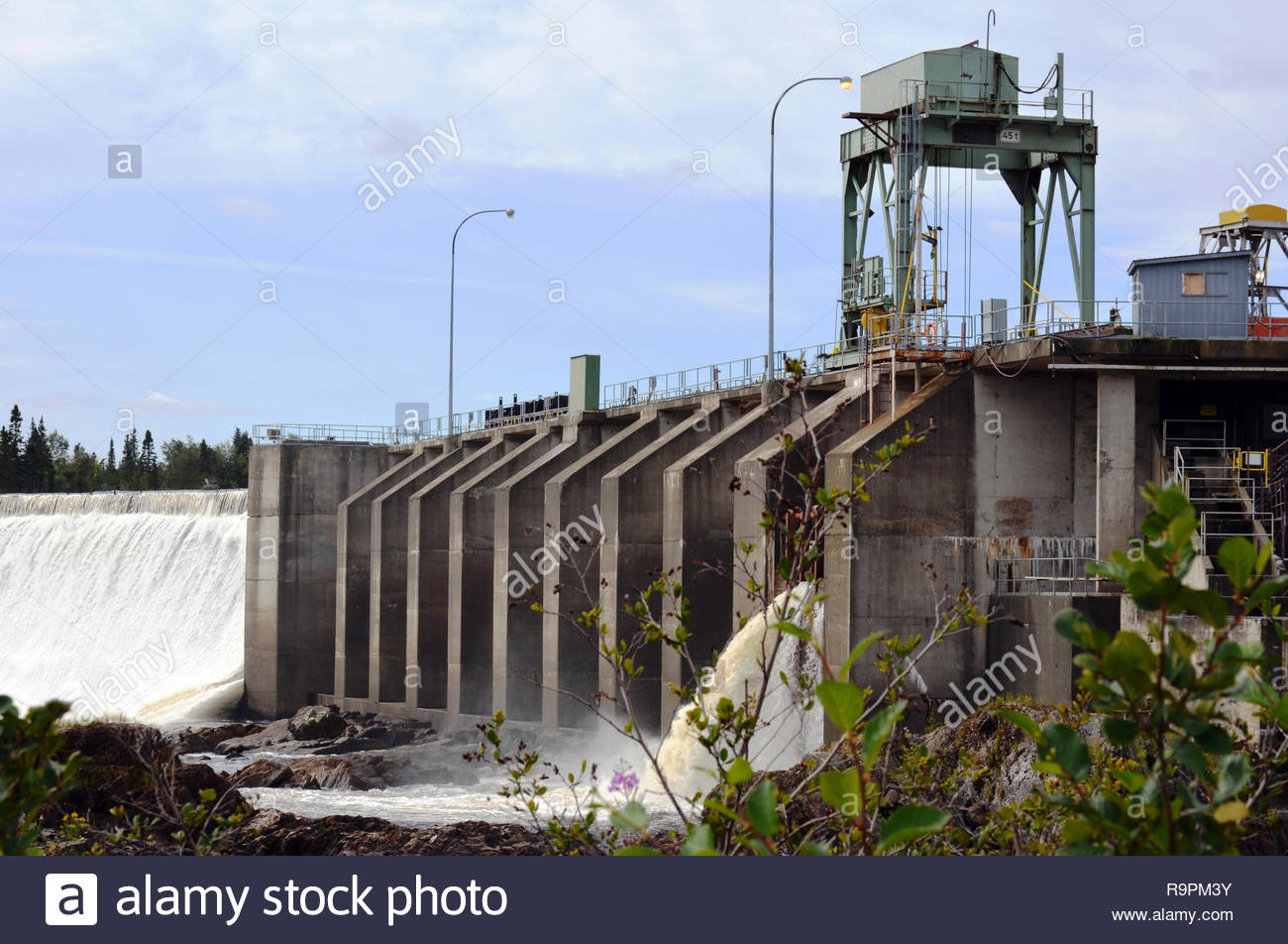 Bishops Falls Hydro Damn, Newfoundland - Stock Image