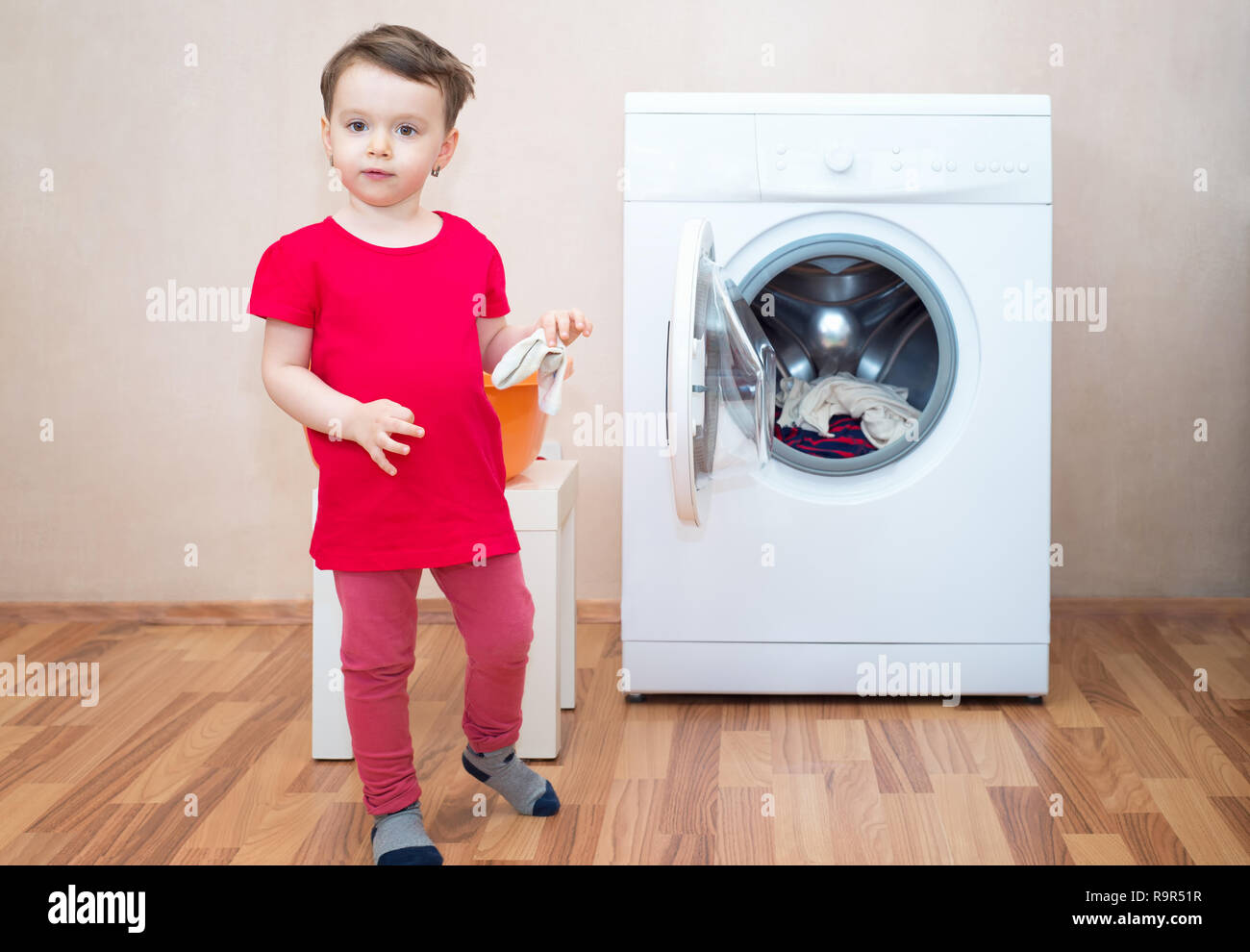Child Washing Machine High Resolution Stock Photography And Images