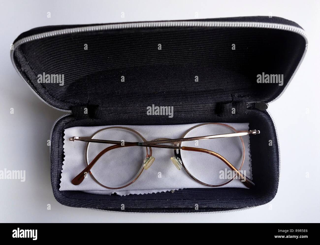 Spectacles with case - Stock Image