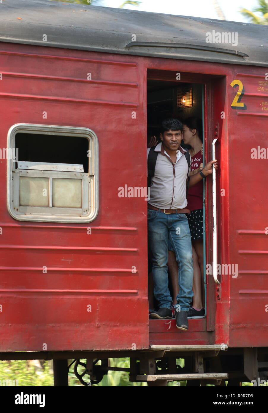 Train travel, Sri Lanka Stock Photo