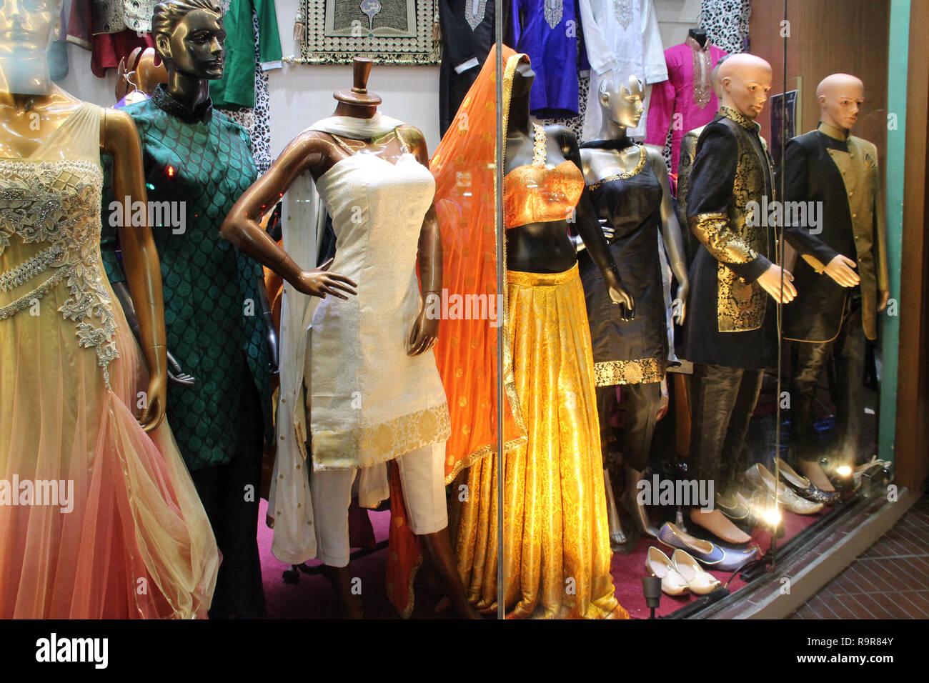 de6eac894ea Indian Clothes Shop Window Stock Photos   Indian Clothes Shop Window ...