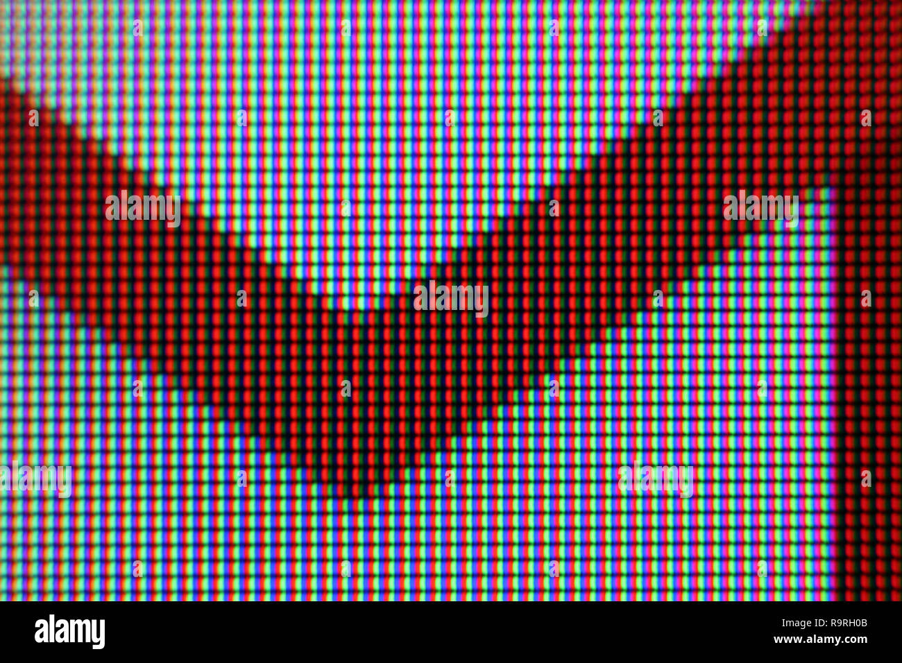 Google gmail icon on screen, close-up - Stock Image