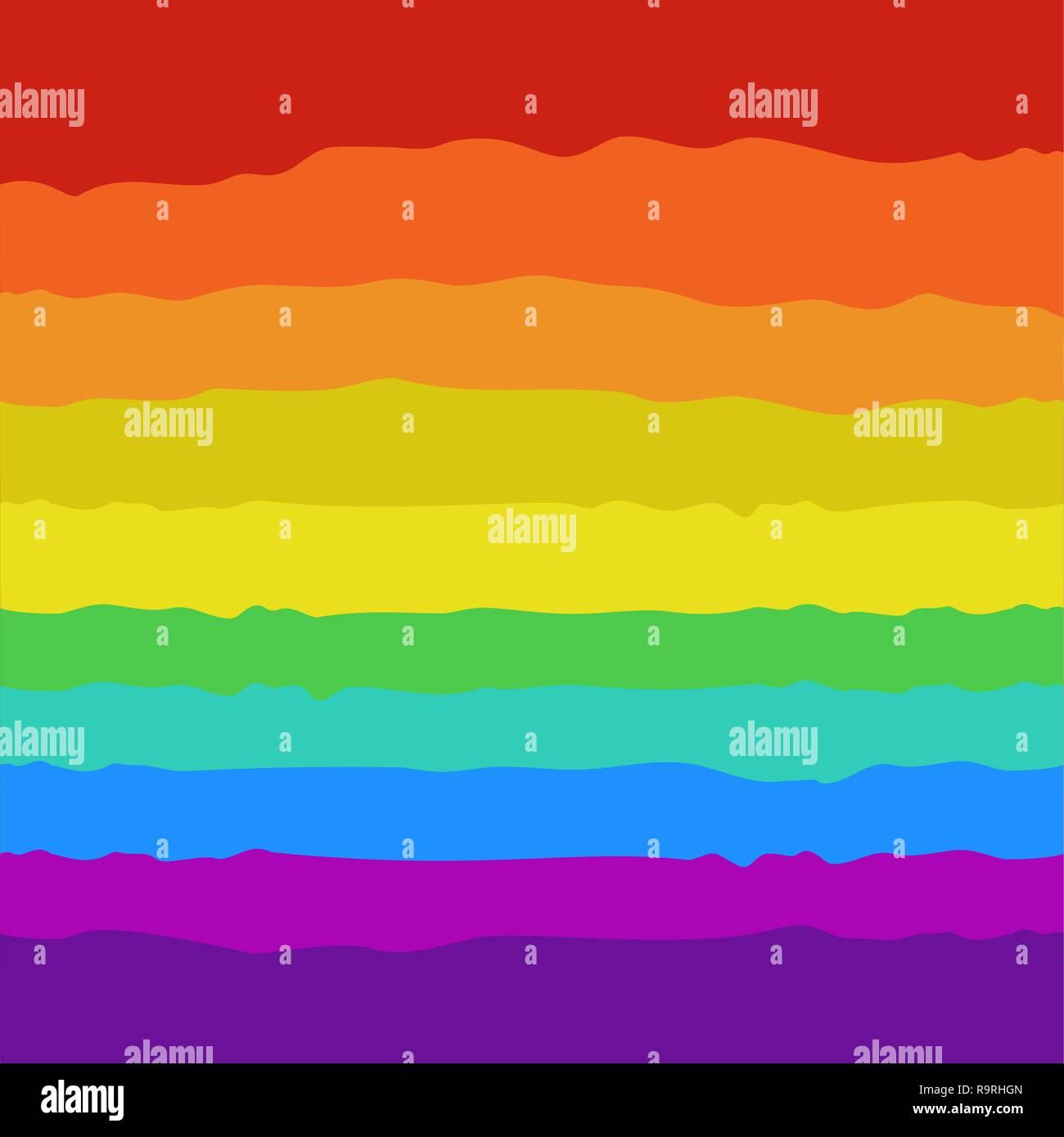 Simple style cute cartoon rainbow background - Stock Image